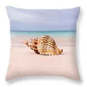 Triton Seashell Throw Pillow