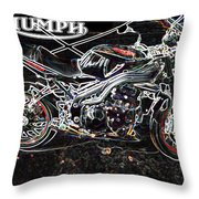 Triumph Abstract Throw Pillow