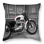 Triumph Bonneville T120 Tt Throw Pillow