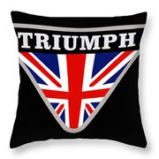 Triumph Emblem Throw Pillow