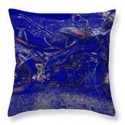 Triumph In Blue Throw Pillow