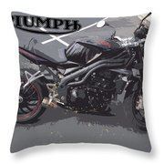 Triumph Motorcycle Throw Pillow