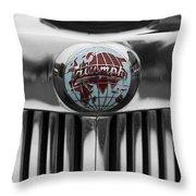 Triumph Roadster Emblem Selective Color Throw Pillow