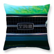 Triumph Tr 6 Grille Emblem Throw Pillow