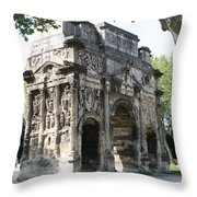 Triumphal Arch - Orange Provence Throw Pillow