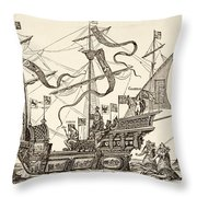 Triumphal Vessel Throw Pillow