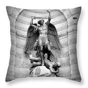 Triumphant Saint Michael Throw Pillow