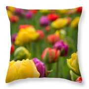 Triumphant Tulips Throw Pillow