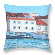 Trogir Croatia Throw Pillow
