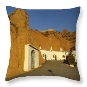 Troglodyte Caves Throw Pillow