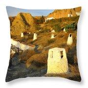 Troglodyte Caves Smokestack Throw Pillow