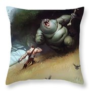 Troll Throw Pillow by Adam Ford
