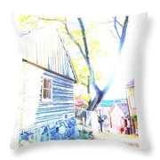 It Was A Sunny Day In The Old City  Throw Pillow