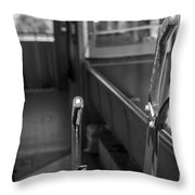 Trolley 28 Leaver Black And White Throw Pillow