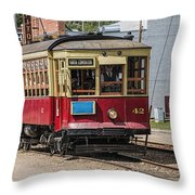 Trolley Car At The Fort Edmonton Park Throw Pillow