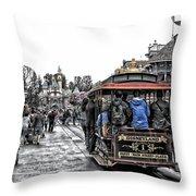 Trolley Car Main Street Disneyland Sc Throw Pillow