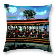 Trolley Stop Throw Pillow