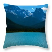 Trolling By The Towers Throw Pillow