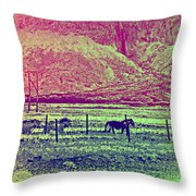 Now And Then You Dream Of The Old Fields Back Home  Throw Pillow
