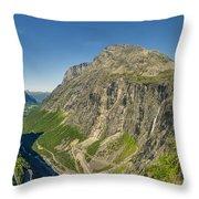 Trollstigen From The Very Top Throw Pillow