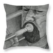 Trombone-the Trombonist Throw Pillow