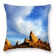 Trona Pinnacles California Throw Pillow by Bob Christopher