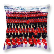 Trooping The Colour Throw Pillow