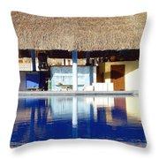 Tropical Bar Throw Pillow