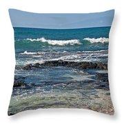 Tropical Beach Seascape Art Prints Throw Pillow