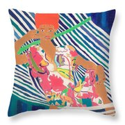 Tropical Beauty  Throw Pillow by Don Larison