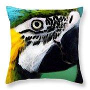 Tropical Bird - Colorful Macaw Throw Pillow