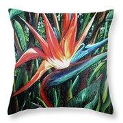 Tropical Bird  Throw Pillow