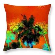 Tropical Blend Throw Pillow