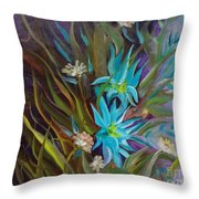 Tropical Blue Throw Pillow