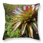 Tropical Bromeliad Throw Pillow