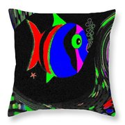 Tropical Cave Fish 1 Throw Pillow