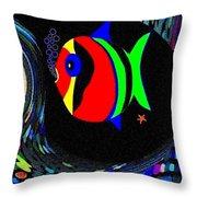 Tropical Cave Fish 2 Throw Pillow