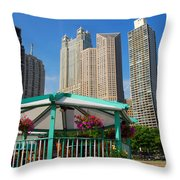 Tropical Chicago Throw Pillow