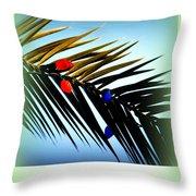 Tropical Christmas Throw Pillow
