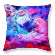 Tropical Coral Reef Throw Pillow