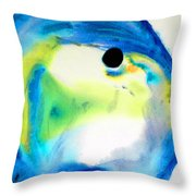 Tropical Fish 3 - Abstract Art By Sharon Cummings Throw Pillow
