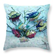 Tropical Fish 4 Throw Pillow