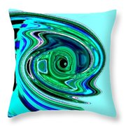 Tropical Fish Abstract Throw Pillow