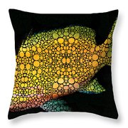 Tropical Fish Art 14 By Sharon Cummings Throw Pillow