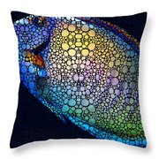 Tropical Fish Art 6 - Painting By Sharon Cummings Throw Pillow