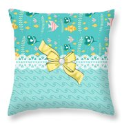 Colorful Tropical Fish Throw Pillow