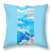 Tropical Fishes Throw Pillow