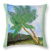 Tropical Flair Throw Pillow