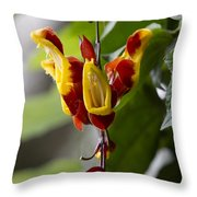 Tropical Flower 3 Throw Pillow