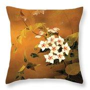 Tropical Flower Throw Pillow